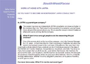 Southwest Faces web site
